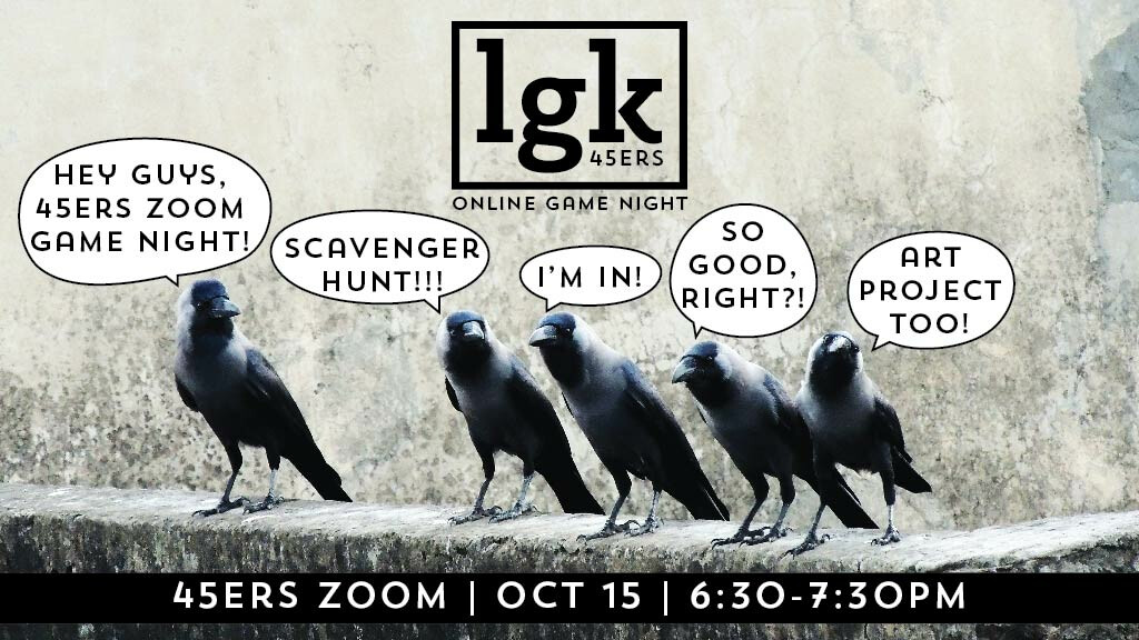 October 45ers Zoom Game Night